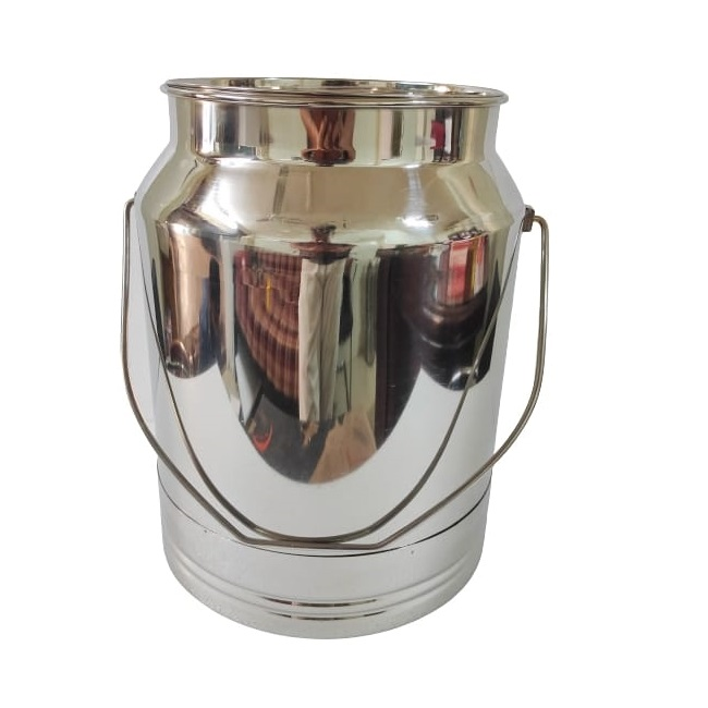 large stainless steel milk can pot 20 liters