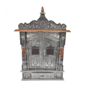 small oxodized wooden temple