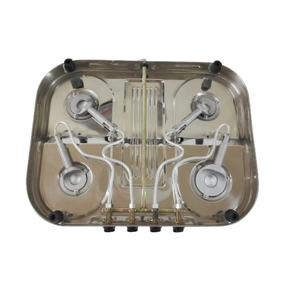 4 burner stainless steel gas stove