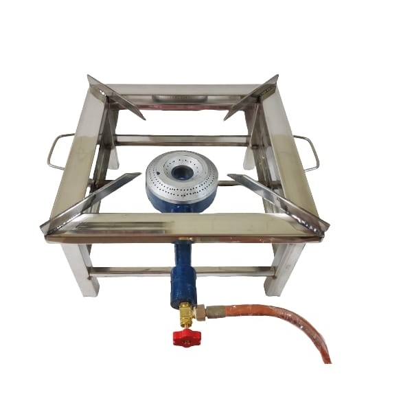 large commercial gas stove
