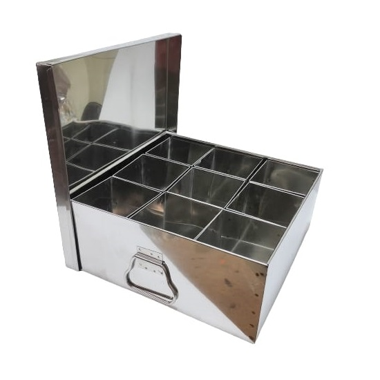 extra large commercial spice box 9 compartment