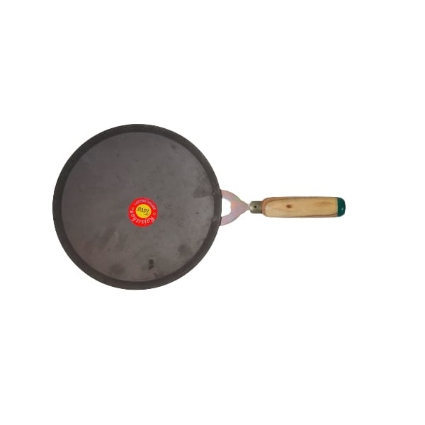 cast iron chapati tawa with wooden handle