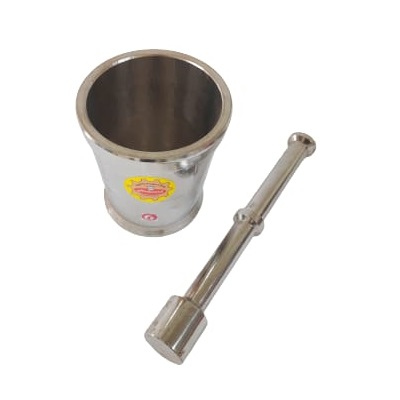 Metal Stainless Steel Mortar and Pestle Large No. 6