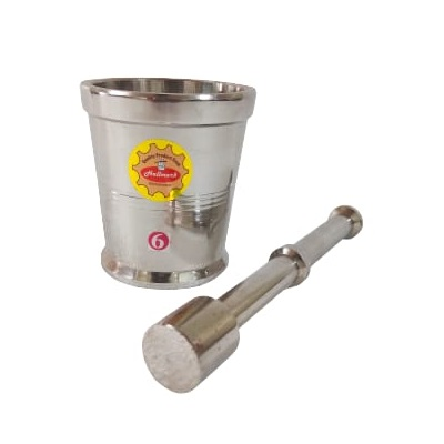 Stainless Steel Mortar and Pestle Large No. 6